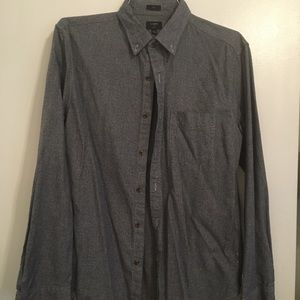 J. Crew grey slim fit button down